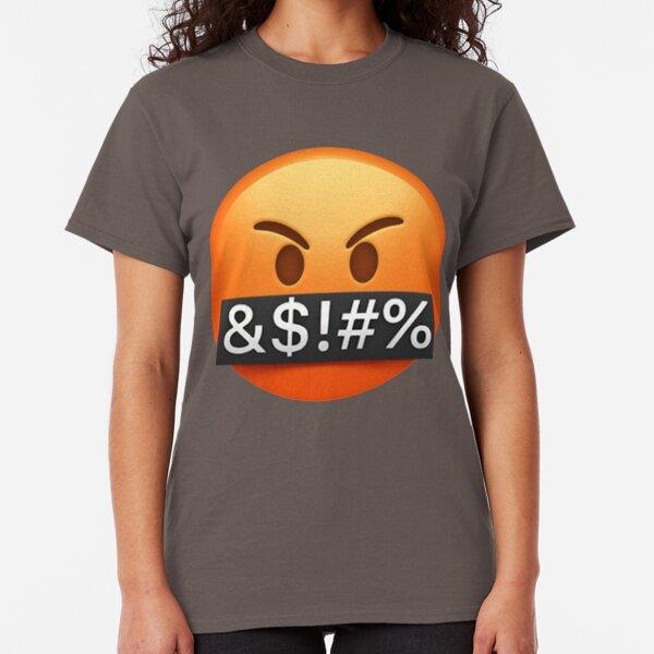 Swearing Emoji  Classic T-Shirt