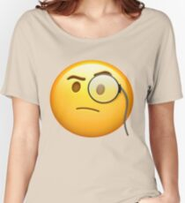 Monocle Emoji Women's Relaxed Fit T-Shirt