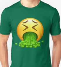Vomit Emoji Slim Fit T-Shirt