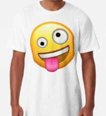 Verrücktes Gesicht Emoji Longshirt
