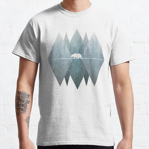 Misty Forest Mountain Bear Classic T-Shirt