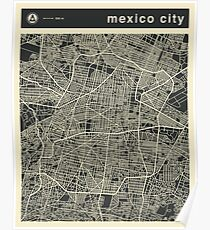 MEXICO CITY MAP Poster