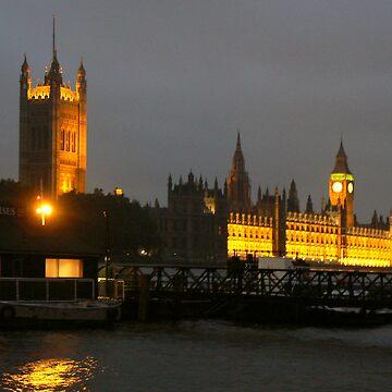 English Parliament at Night by smallan
