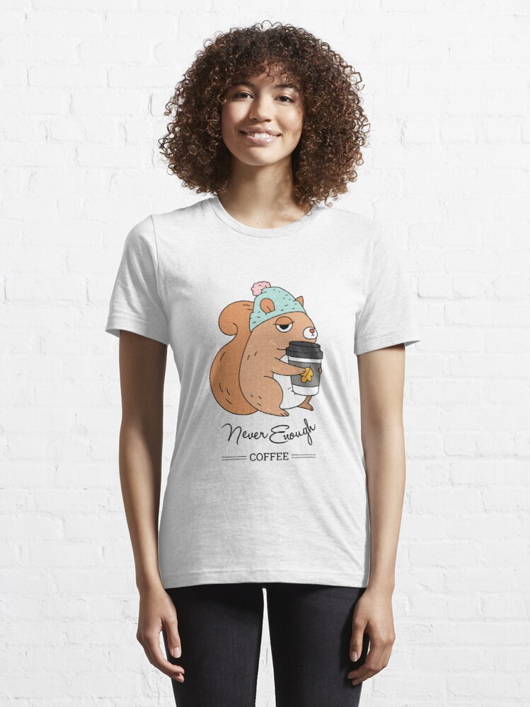 Alternate view of Squirrel, never enough coffee Essential T-Shirt