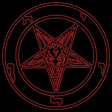 The seal of Baphomet (black shaped, red contour) by Weltenbrand