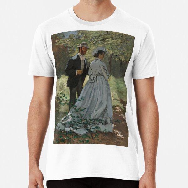Claude Monet Bazille and Camille (Study for Déjeuner sur l'Herbe) 1865 Painting Premium T-Shirt
