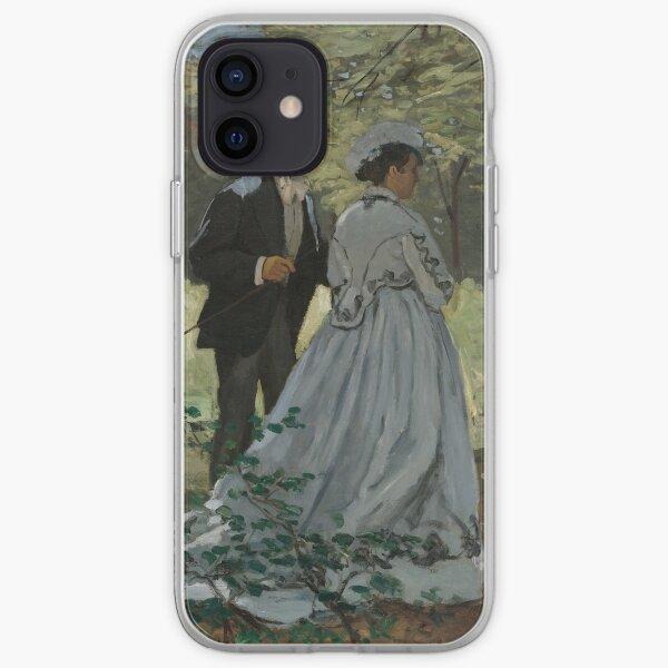 Claude Monet Bazille and Camille (Study for Déjeuner sur l'Herbe) 1865 Painting iPhone Soft Case