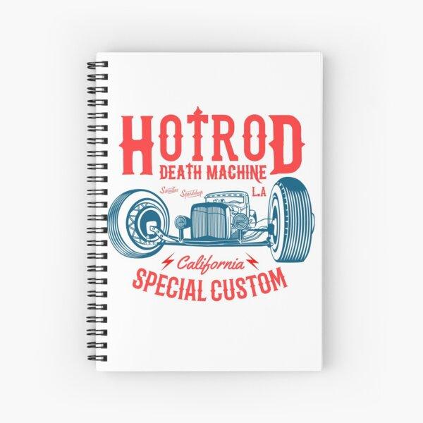 Hot Rod Death Machine Spiral Notebook