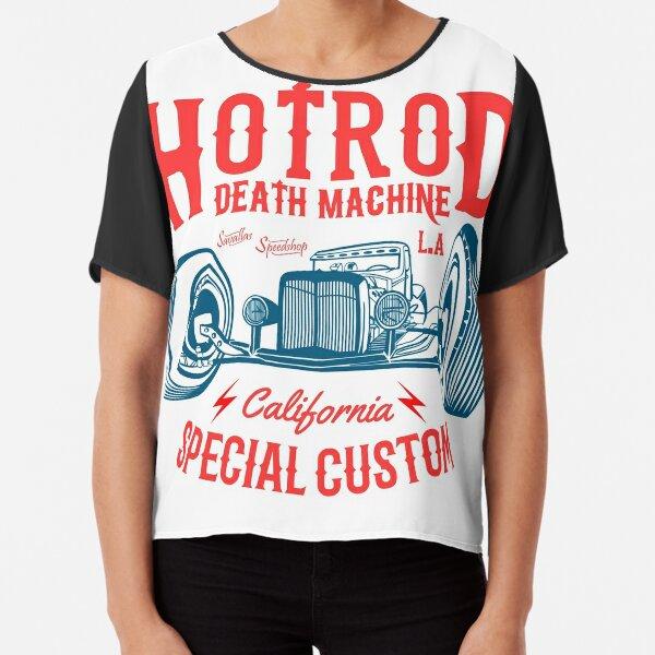 Hot Rod Death Machine Chiffon Top