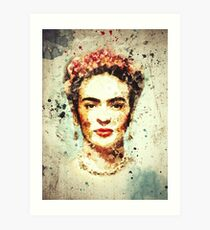Frida Kahlo Watercolor  Art Print