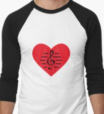 Love Music Men's Baseball ¾ T-Shirt