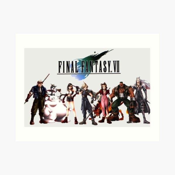 Personajes de Final Fantasy VII Lámina artística