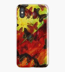 Butterflies Abstract mixed media digital art collage  iPhone Case/Skin