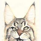 «Gato» de PaperTigressArt