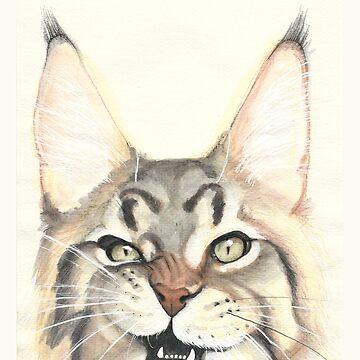 Gato de PaperTigressArt