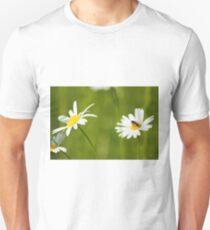 bee on white flower Unisex T-Shirt