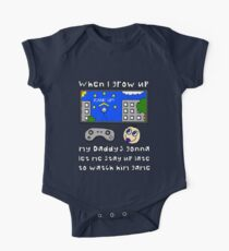 When I Grow Up Gamer Baby - Gaming Geek Parent One Piece - Short Sleeve