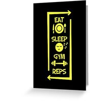 Eat sleep gym reps stickers by bearts redbubble greeting card m4hsunfo