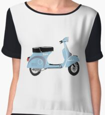 Vespa Scooter Chiffon Top