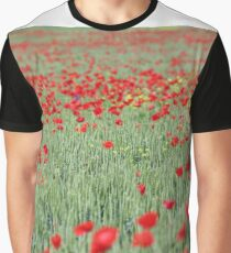 green wheat and poppy flowers Graphic T-Shirt