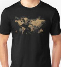 Vintage retro map Unisex T-Shirt