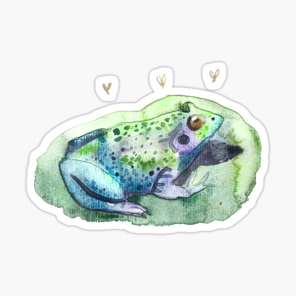 Frog Watercolor Lily Padded  Sticker