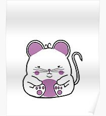 Cute Mouse - White Poster