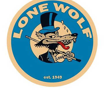 Lone Wolf Vintage Travel Decal Rat Rod 00580 by Drewaw
