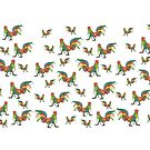 Punky Rooster Coffee Mug Pattern by AJLeibengeist