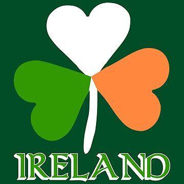 Ireland Flag Irish Shamrock by rubina