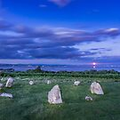 Moonrise over Birkrigg Stone Circle by Stephen Miller
