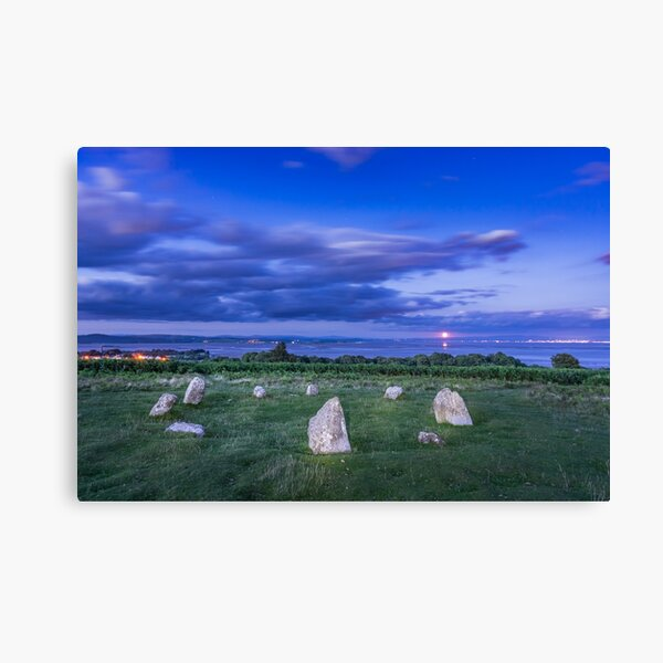 Moonrise over Birkrigg Stone Circle Canvas Print
