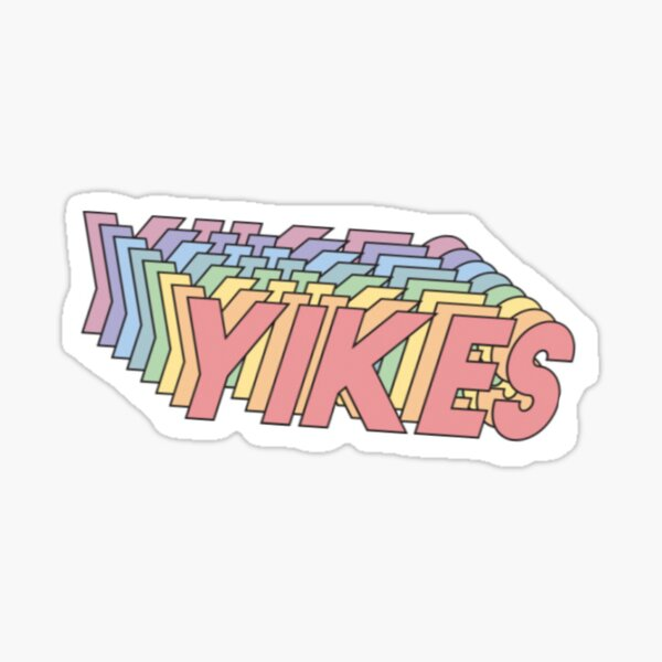 Yikes Sticker Sticker