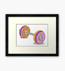 Lift those Donuts Framed Print