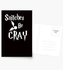 Snitches be cray - Golden Snitch Potter Postcards