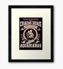 The Luckiest Women Are Born As Aquarius Framed Print