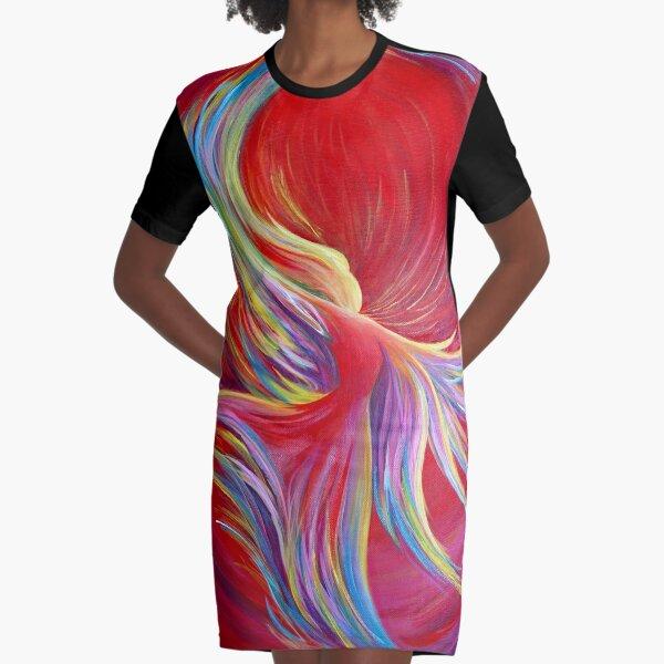 Angel Dance Graphic T-Shirt Dress