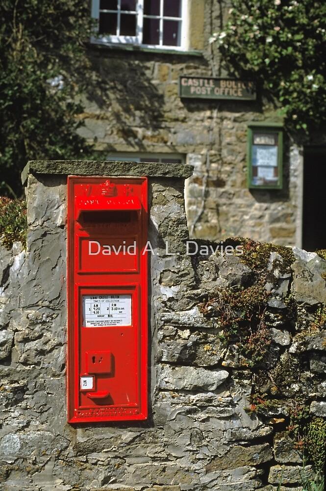 Post Box Castle Bolton N. Yorkshire, UK, 1980s. by David A. L. Davies