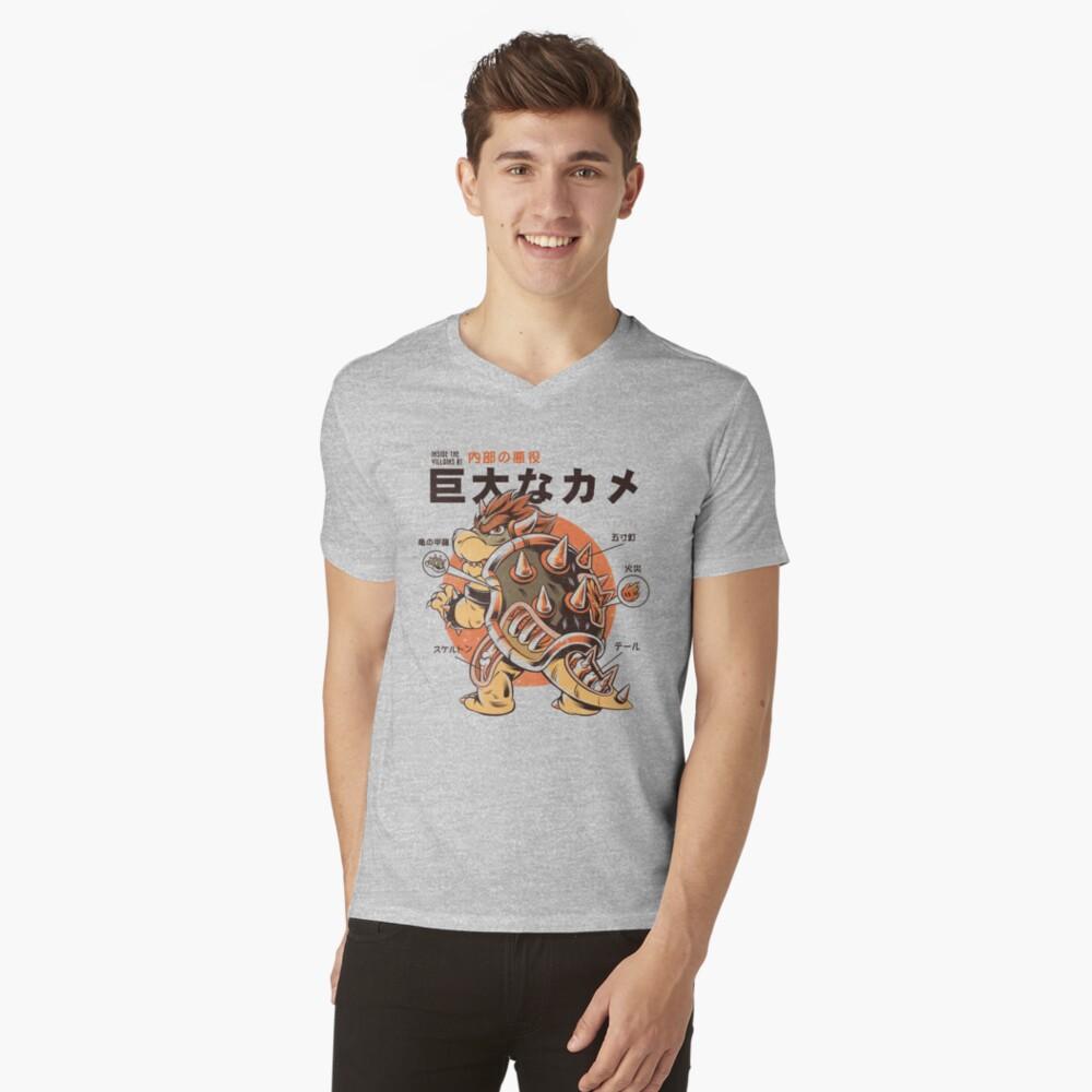 Bowserzilla V-Neck T-Shirt
