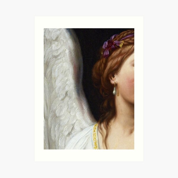 The Angel With The Pearl Earring closeup Art Print