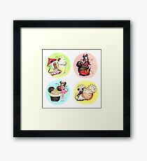 Minnie ladies and Mouse Treats Framed Print