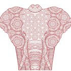 Pink mandala elephant by RebecaZum