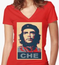 che guevara obama style Women's Fitted V-Neck T-Shirt