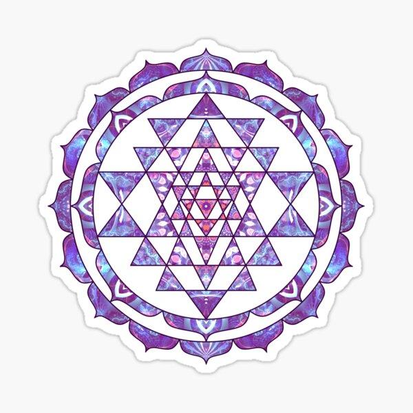 Purple Sri Yantra Lotus Mandala Hinduism Sticker