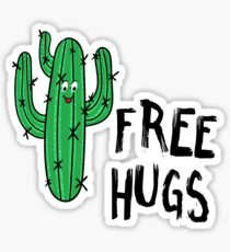 Funny Cactus Free hugs Sticker
