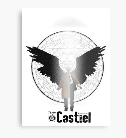 Team Supernatural: Castiel Metal Print