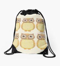 Sextuplet Owls Drawstring Bag