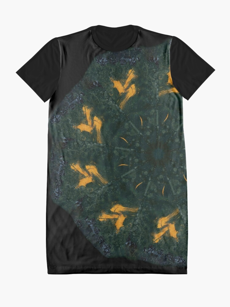 Alternative Ansicht von Coffee Mandala - 0002 - Orion T-Shirt Kleid