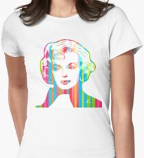 Marilyn Monroe   Pop Art by William Cuccio Women's Fitted T-Shirt