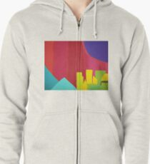 Purple Sun (Facemadics colorful abstract painting) Zipped Hoodie